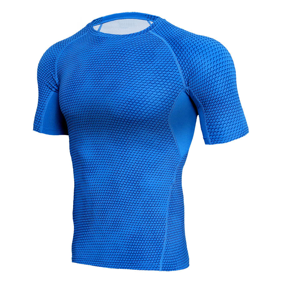 Fitness Compression Shirt Men 3D Print Short  Sleeves T Shirt Men Rashguard MMA 2018 Workout Bodybuilding Skin Tight Gyms Tops