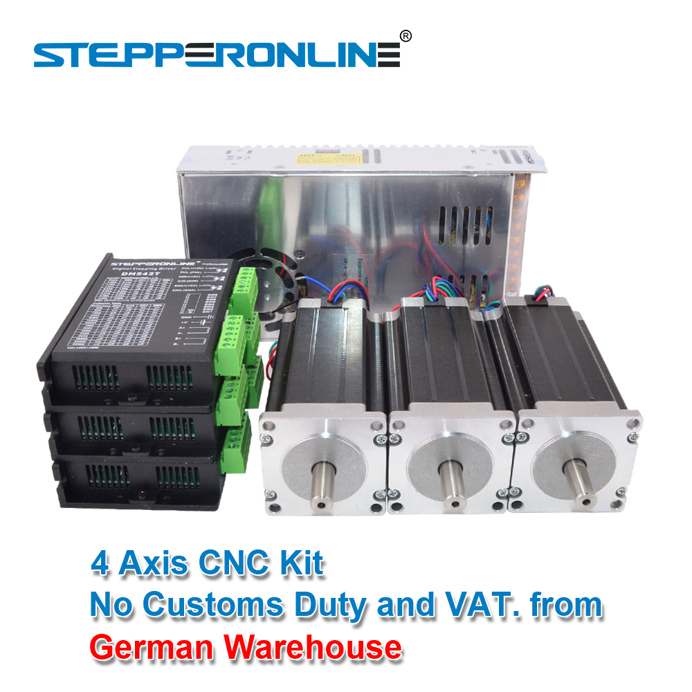 <font><b>3</b></font> <font><b>Axis</b></font> <font><b>CNC</b></font> Router <font><b>Kit</b></font> 3Nm/425oz.in Nema 23 Stepper Motor & Driver <font><b>CNC</b></font> <font><b>Mill</b></font> Router Lathe image