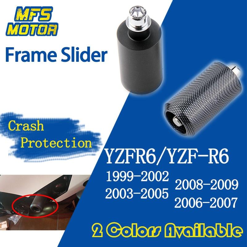 1999-2002 Yamaha YZF R6 CHROME FRAME SLIDERS