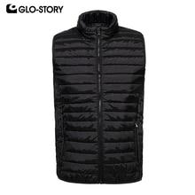 GLO-STORY Для мужчин 2019 Новинка весны легкий без рукавов стеганая куртка Для мужчин Slim Fit жилет пальто MMJ-7116 17 18 19