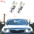 2 x T10 Error Free LED 194 192 168 LED Car Canbus Parking Light W5W For Skoda octavia 2 a7 a5 fabia rapid yeti superb