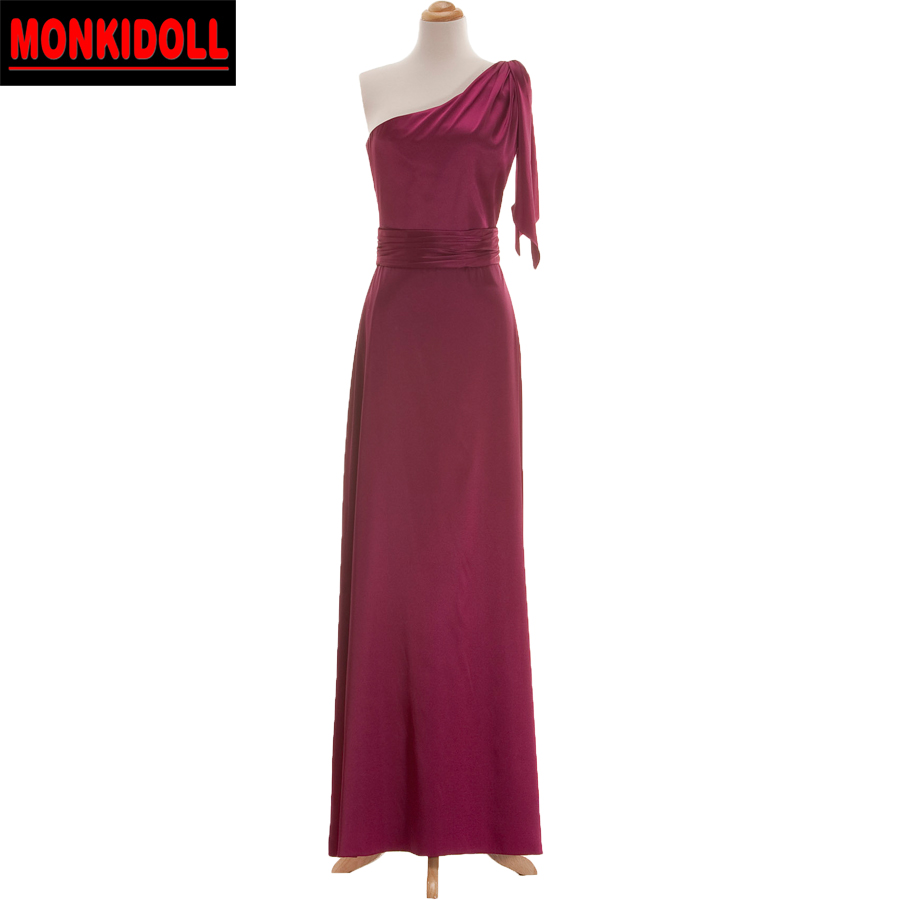 Sexy one shoulder burgundy bridesmaid dresses cheap long junior sexy one shoulder burgundy bridesmaid dresses cheap long junior bridesmaid dress custom made western maid of honor gowns in bridesmaid dresses from weddings ombrellifo Choice Image