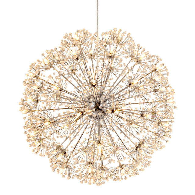 Online shop norbic modern brief k9 crystal flower pendant light norbic modern brief k9 crystal flower pendant light fixture home deco dining room chrome iron spark ball g4 led pendant lamp audiocablefo