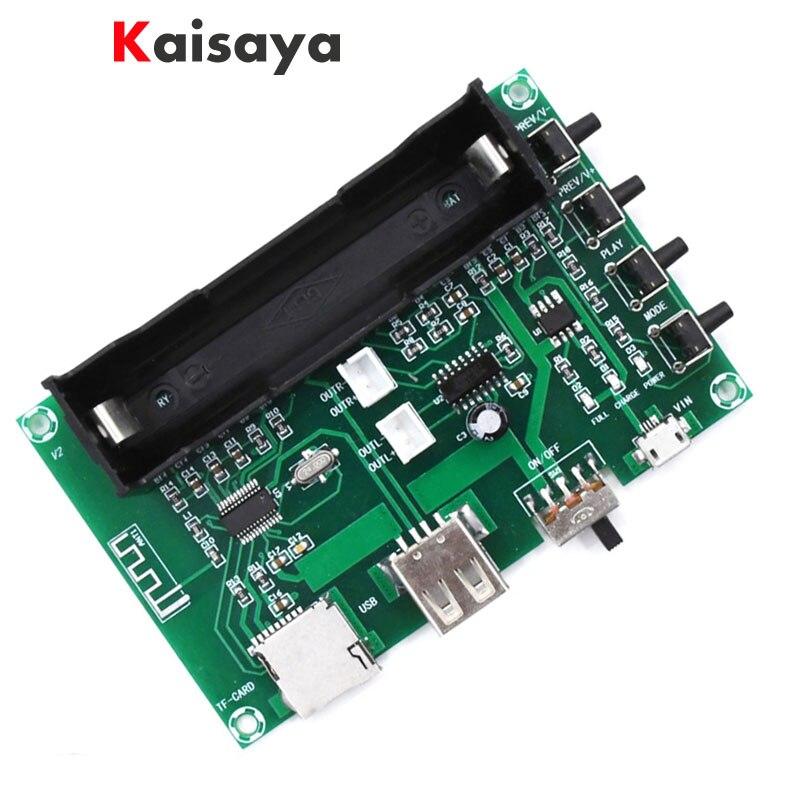 5W + 5W PAM8403 Bluetooth Digital Lithium Battery Power HIFI Amplifier Board For USB SD Card Singing Machine DIY A8-006