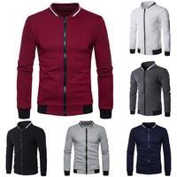 2017 New MUQGEW Mens Long Sleeve Plaid Cardigan Zipper Lattice Sweatshirt Tops Coat Outwear Fashion Casual