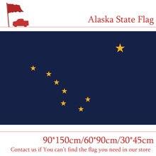 Estados do alasca bandeira 90*150cm/60*90cm/30*45cm américa para decoração celebratio
