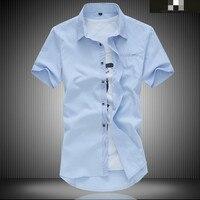6 Kinds Of Color Big Size Summer Men Short Sleeve Shirt Plus Fertilizer To Increase Business