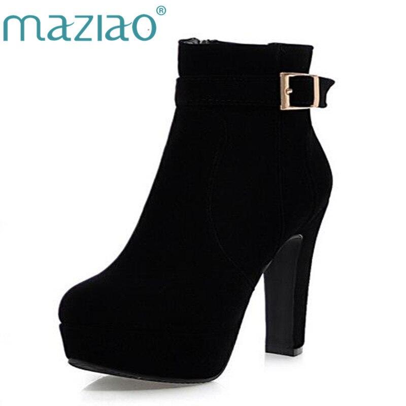 Womens Ladies Mid Tacón Cuña Alta HI TOP Zapatillas de plataforma hebilla de cadena Encaje Hasta Tobillo Botas Tamaño, color negro, talla 38