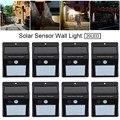 8 piezas LED Bombilla de luz Solar Sensor de movimiento lámpara de pared de seguridad exterior impermeable ahorro de energía hogar jardín calle camino luz