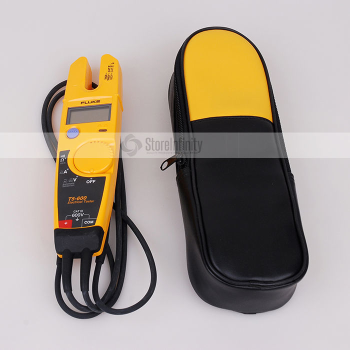 FLUKE T5-600 Clamp Meter Voltage Continuity Current Clamp Meter with Labloot Soft Case H13FLUKE T5-600 Clamp Meter Voltage Continuity Current Clamp Meter with Labloot Soft Case H13