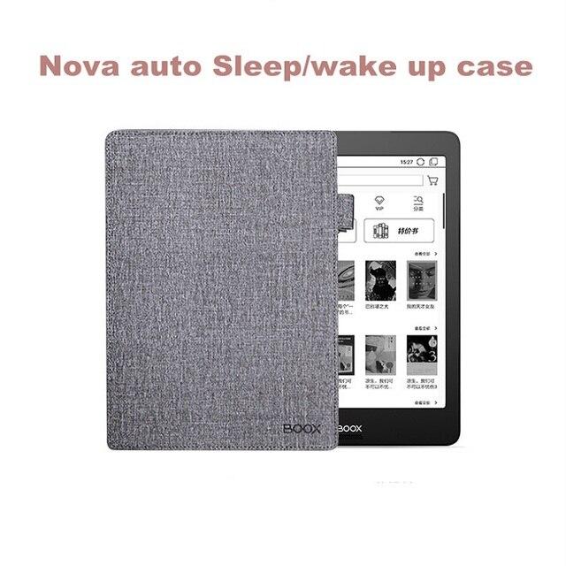 Negro dormir y despertar Flip caso para Kobo glo N613 6 pulgadas magnético cubierta de cuero de la PU