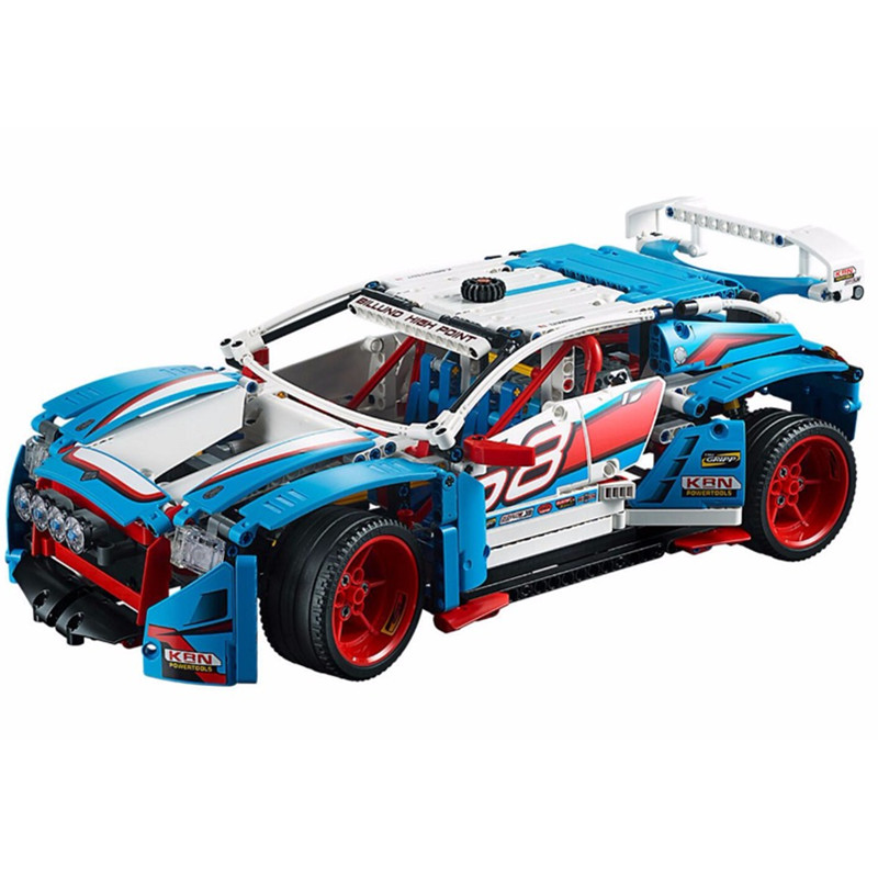 все цены на Diy Genuine Serie The Rally Car Set Building Blocks Bricks Educational Toys for Children Compatible Legoingly Technic 42077 Gift
