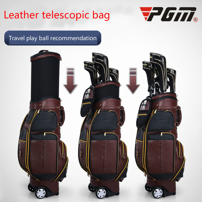 все цены на Whole cattle leather golf ball package men ball bag multifunction consignment air bag онлайн
