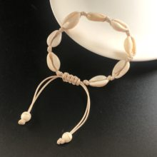 Hot Sale Handmade Natural Seashell Hand Knit Bracelet Shells Bracelets Women Accessories Beaded Strand Bracelet(China)