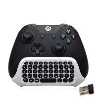 TYX-586S 2.4G Kablosuz Klavye Mini Sohbet Microsoft XBOX ONE için Mesaj Beyaz Tuş Slim Video Oyun Denetleyicisi