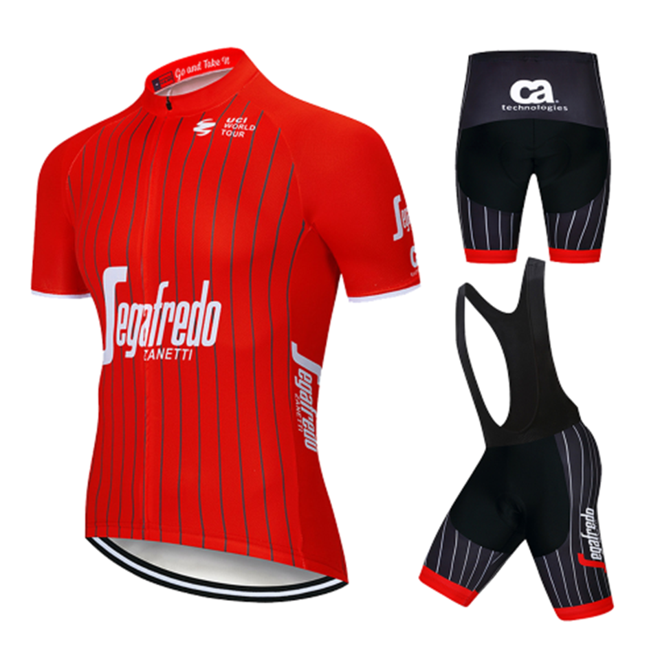 2018 Cycling Jersey Summer Team Treking Red Short Sleeves Clothing Ropa Ciclismo Cycling Clothing Sports Suit