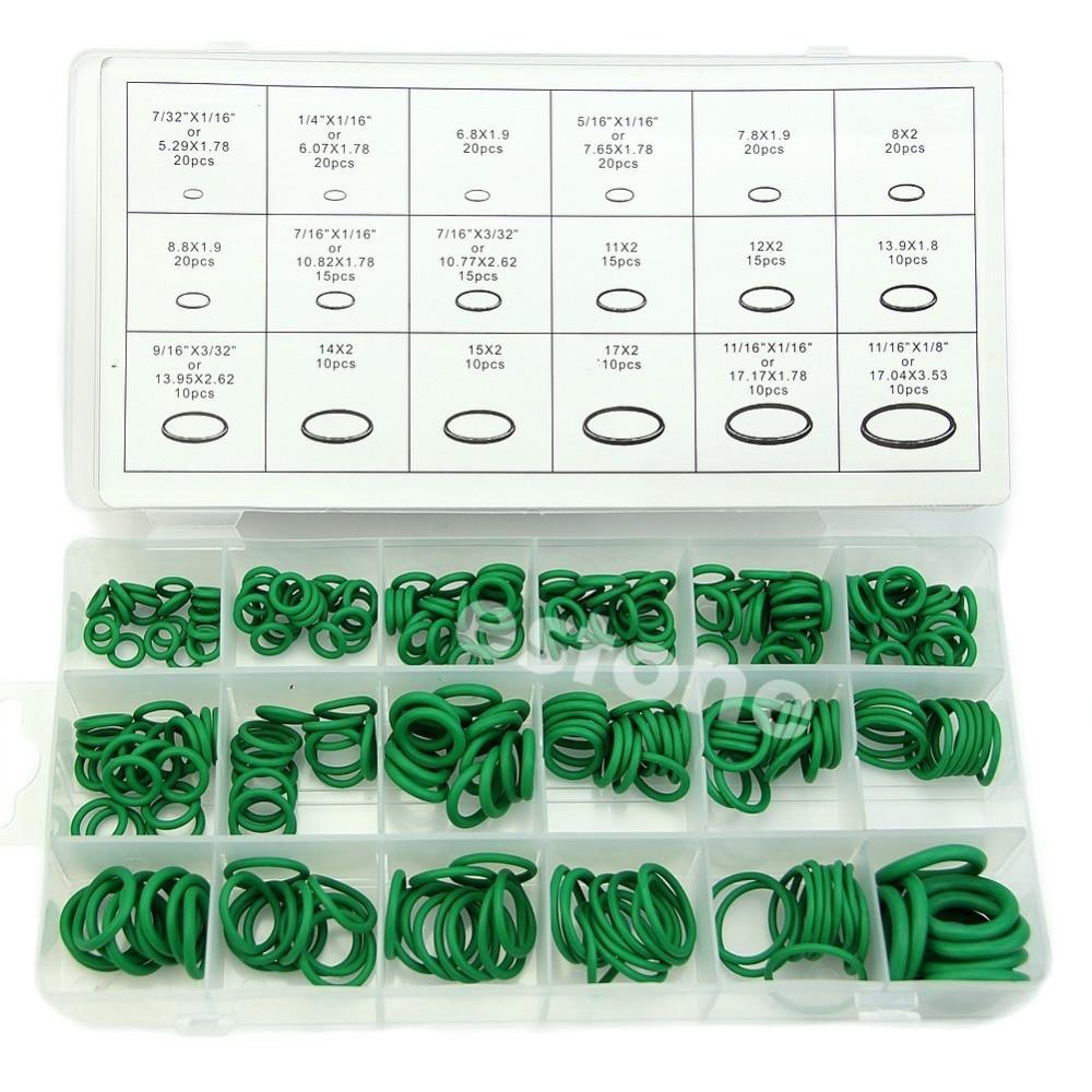 270 pçs 18 tamanhos kit de ar condicionado hnbr o anéis reparação do veículo automóvel do carro
