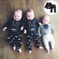 Lindo 2 UNIDS Infantil Bebé Niño Conejo Camiseta Tops + Pants Leggings Trajes Set