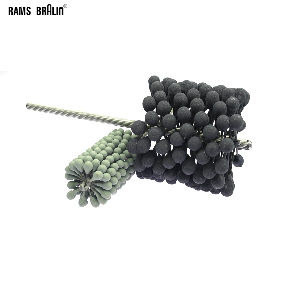 1 Piece Dia. 60 - 150 Mm Abrasive Polishing Brush Pipe Ball Flex Hone Deburring Brush Head