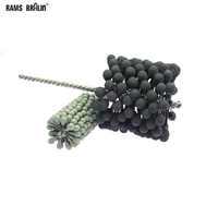 1 piece Dia. 60 150 mm Abrasive Polishing Brush Pipe Ball Flex Hone Deburring Brush Head