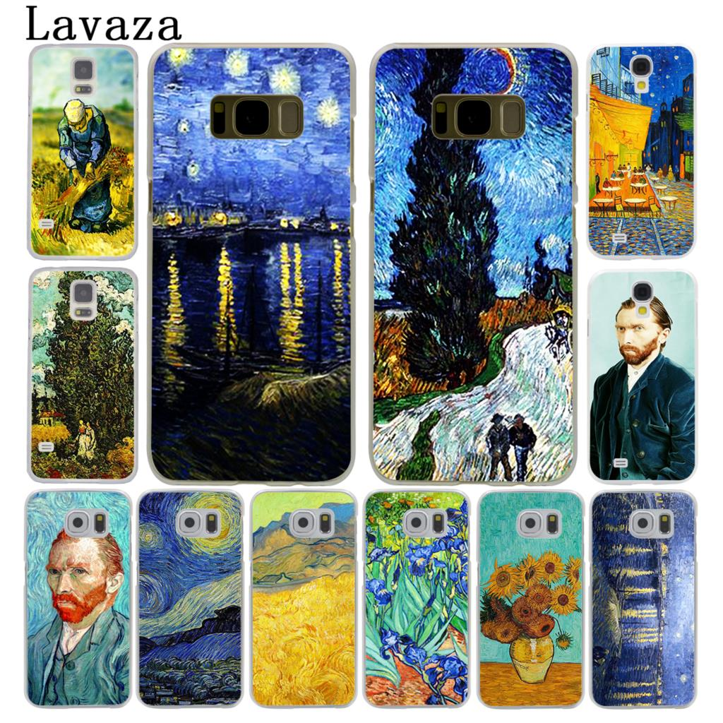 Lavaza Vincent Willem van Gogh Tardis Hard Style Phone Shell Case for Samsung Galaxy S7 S6 Edge S3 S4 S5 & Mini S8 S9 Plus Cover