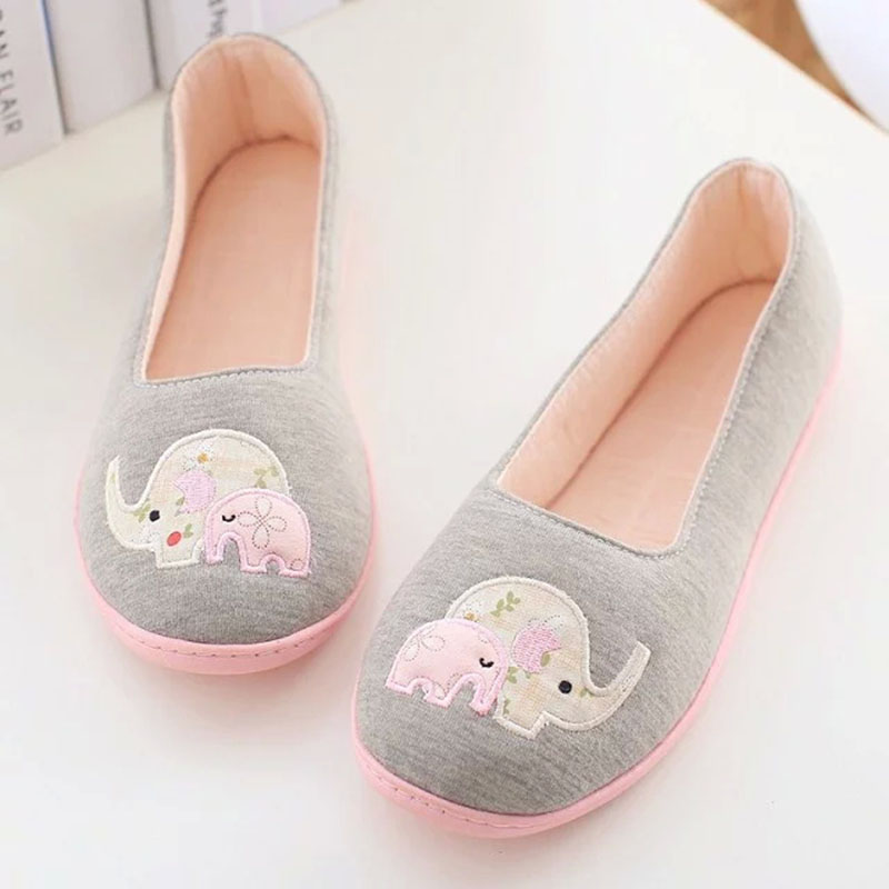 2016 Spring and Autumn Floral elephant home confinement shoes bags root women shoes soft soled shoes