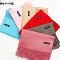 Luxury Brand Scarf Unisex 2016 Female Male Canada Wool Cashmere Scarf Pashmina Tassels Women Men Wrap Warm