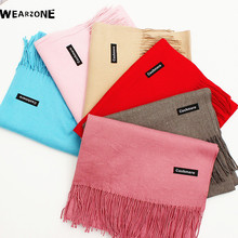 Luxury Brand Scarf Unisex 2016 Female Male Canada Wool Cashmere Scarf Pashmina Tassels Women Men Wrap Warm(China)