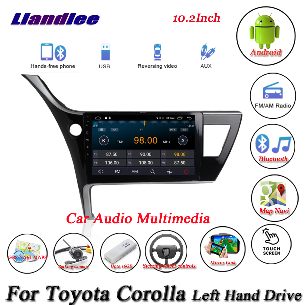 hight resolution of liandlee car android system for toyota corolla left hand drive radio gps navi map navigation hd screen multimedia no dvd player in car multimedia player