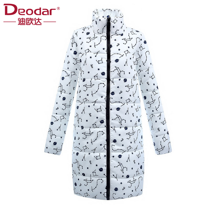D'hiver Coton Femelle Mode Manteau Mince bleu Zipper Longue Veste Deodar 2018 Noir Femmes blanc Parka Vêtements De Ouatée AvEvqOUw
