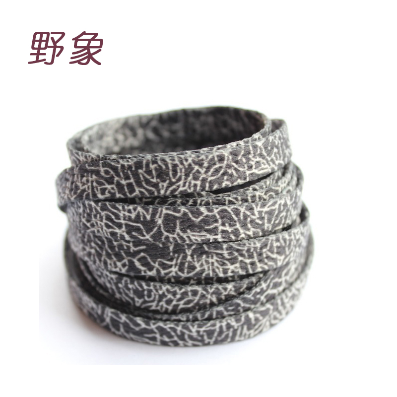 Wild Elephants printed crack cords shoelaces burst lines black white athletic sport plain flat shoelace Unisex sneaker laces
