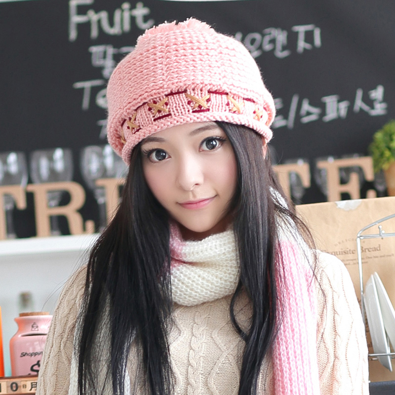 3d9d1d2ff44b5 BomHCS Women s Winter Thick Warm Handmade Chunky Hat Fashion Beanie Caps  Gift-in Skullies   Beanies from Apparel Accessories on Aliexpress.com
