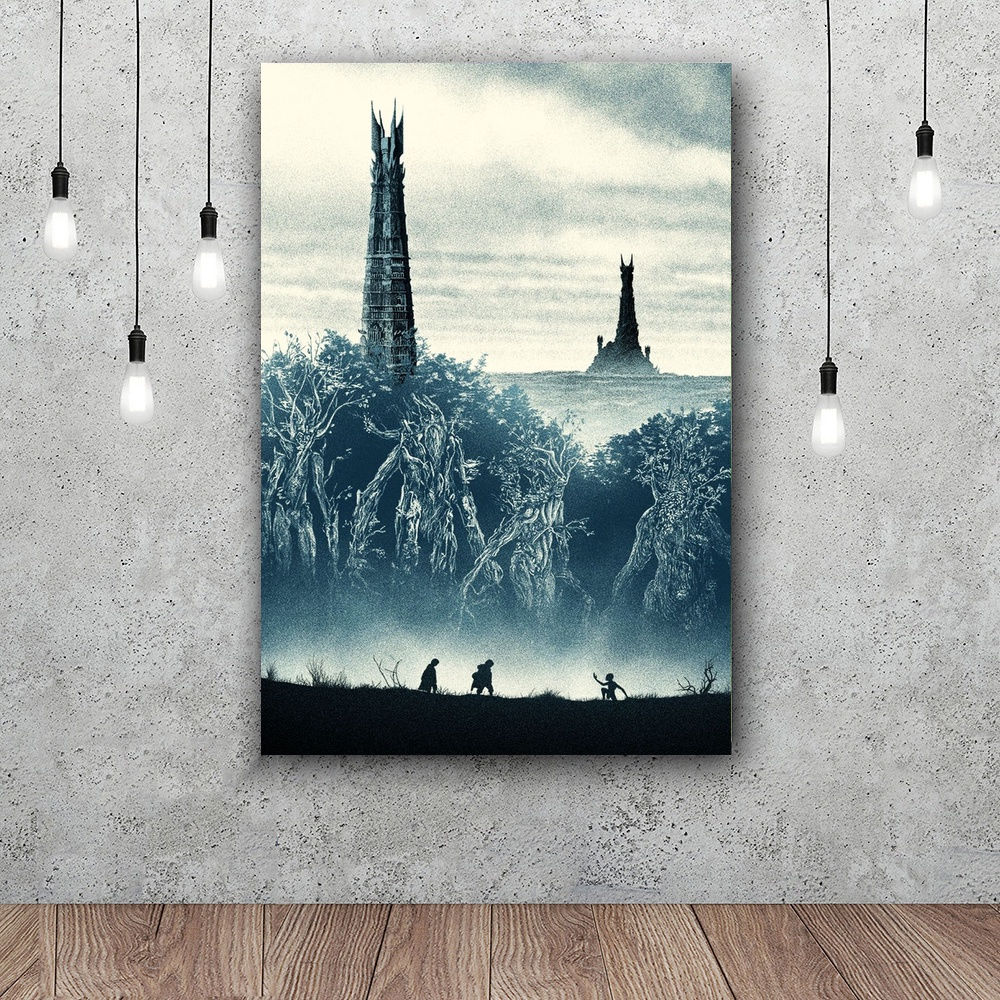 The Lord of the Rings The Two Towers Movie Art Silk poster Home Decor 12x18 24x36inch