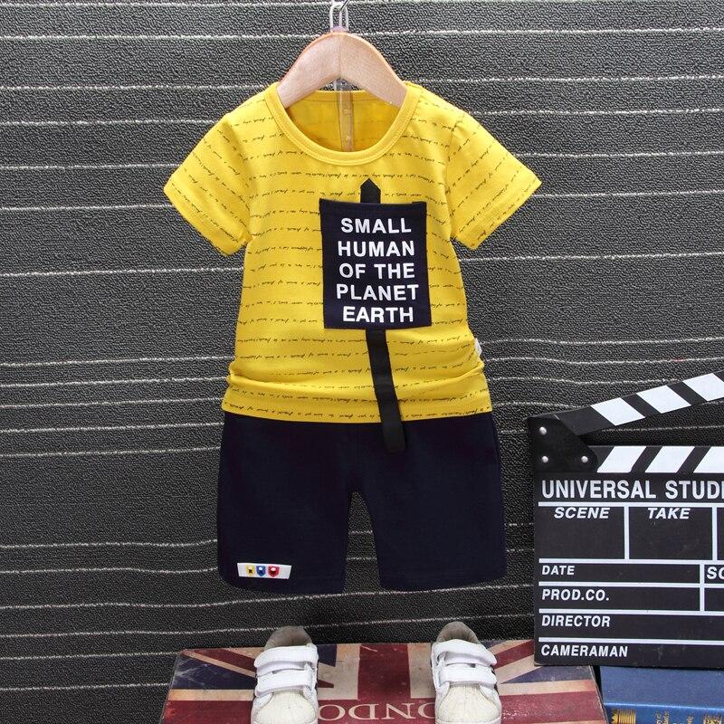 100% QualitäT 2019 Neue Sommer Neugeborenen Baby Jungen Mädchen Kleidung Kinder Baumwolle Kurzarm 2 Teile/satz Cartoon Mode Infant Sport Kleidung Trainingsanzug SchöN Und Charmant
