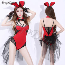 woman DS performance sexy bunny uniform nightclub DJ singer Gogo lead dancer rabbit costume(China)