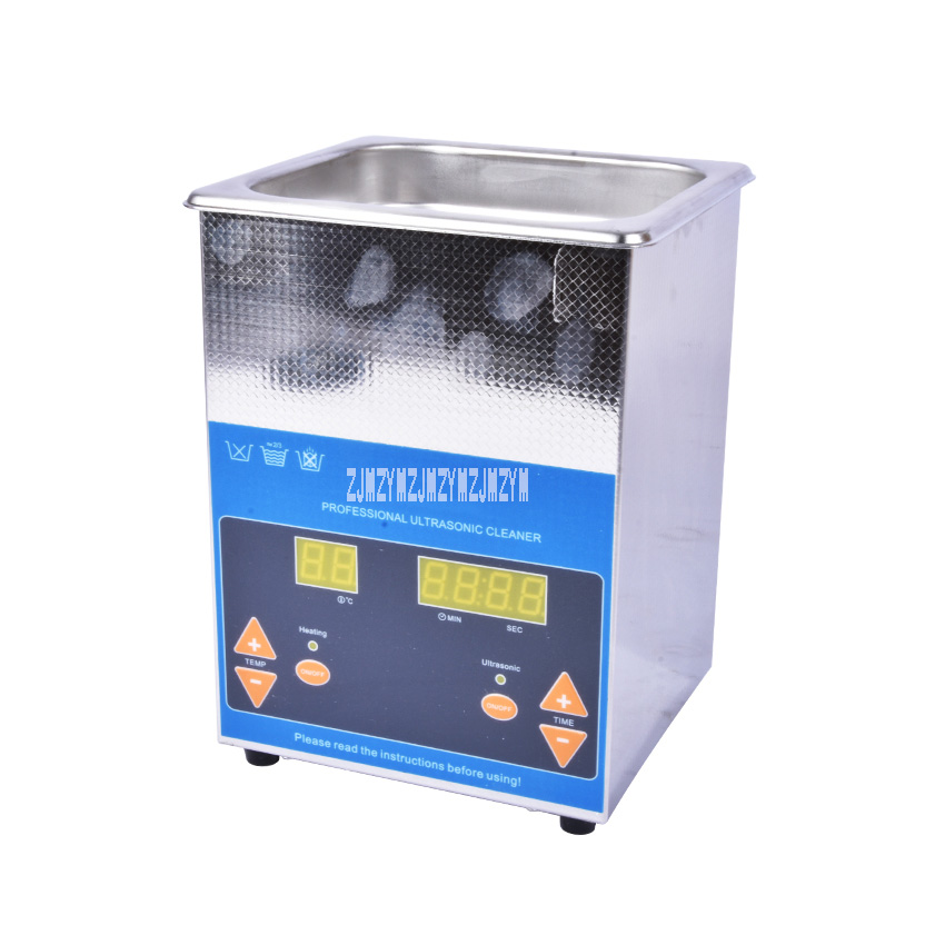 VGT-1620QTD 2L Digital Display Ultrasonic Cleaner Stainless Steel Timer Heating Setting Bath Cleaning Jewelry Watch Glasses 100W glasses cleaner jewelry 2l stainless bath 60w ultrasonic cleaner 40khz timer setting 1 30mins home washer dental brushes
