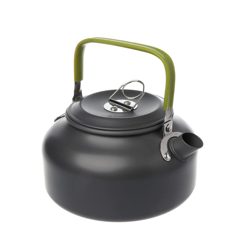 1 Set pique-nique théière extérieur Camping batterie de cuisine Kit outils de cuisine Portable poignée Pot ustensiles de cuisine aluminium ustensiles chaudière randonnée - 4