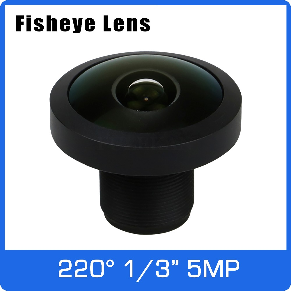 5Megapixel 1/3 inch Super Wide Angle 220 degree Fisheye Lens 1.0mm For 4MP/5MP OV5658 IP CCTV Camera Free Shipping все цены