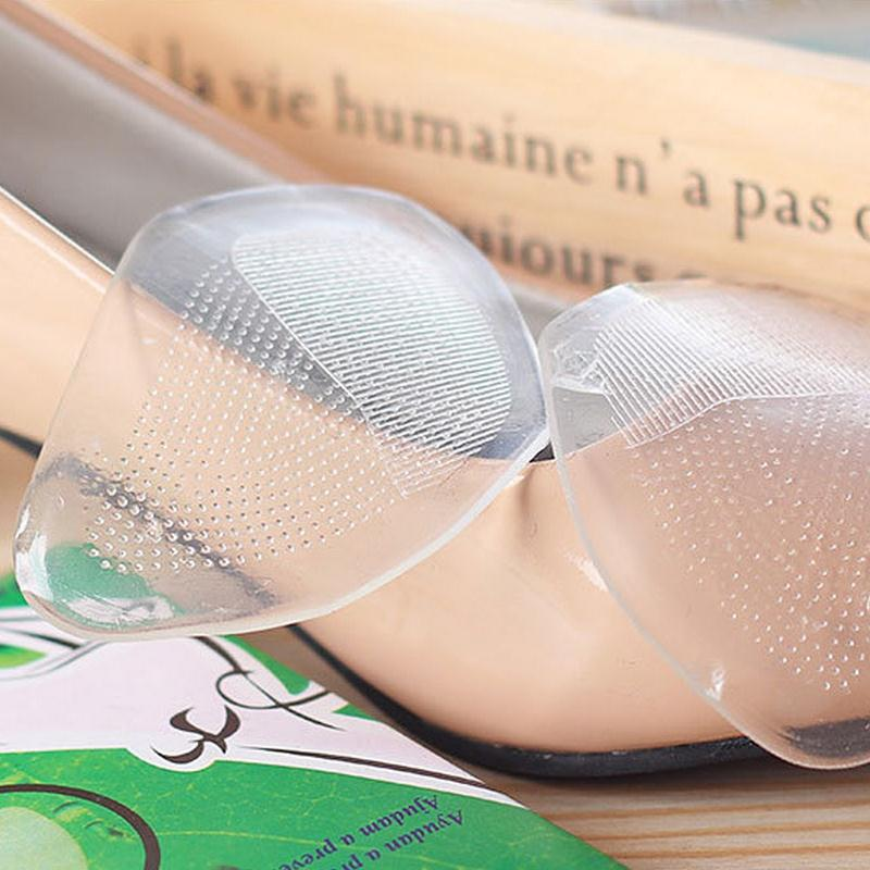 2Pair=4Pcs/Lot Unisex Silicone Insoles Transparent Crystal Jelly Ottomans Feet Palm Pad Elastic Cushion Insoles #B2017