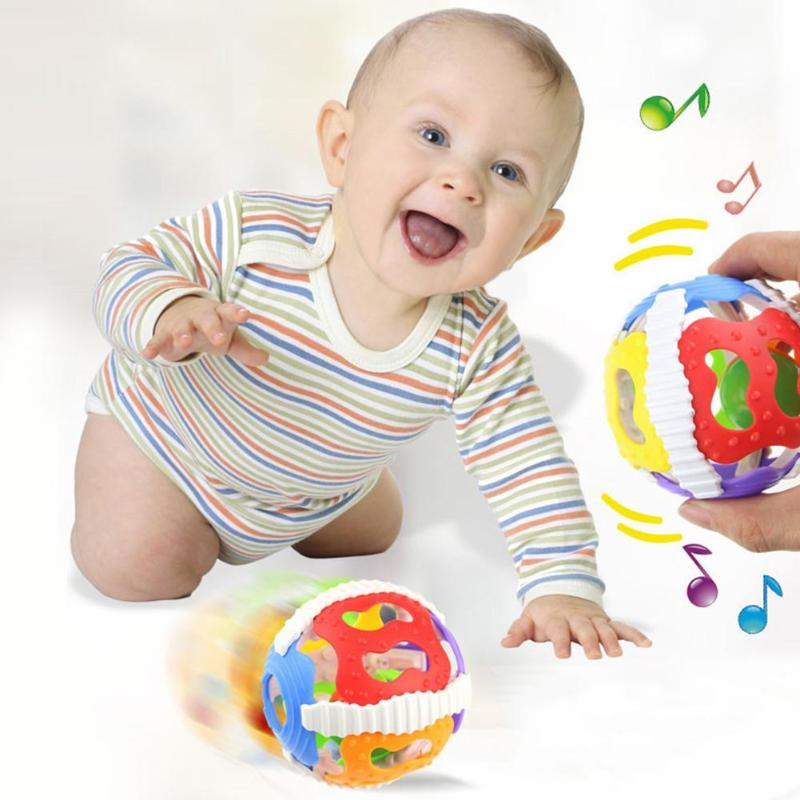 Soft Baby Rattles Little Loud Bell Ball Soft Rubber ABS Baby Musical Rattles Sound Bell Ball Infants Grasping Toys For Children