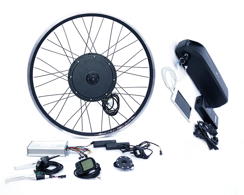 48v 1500w rear wheel electric bike conversion kit with 48v 17ah lithium battery pack front or rear motor 65km h max snow ebike kit 48v 1500w ebike fat tire wheel conversion kit with lithium battery pack