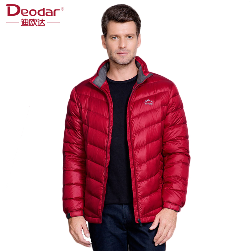 Deodar Men Ultra Light Down Feather Jacket Winter Fashion Origin Design Down Coats Solid White Men Down Coat Parkas DX4261