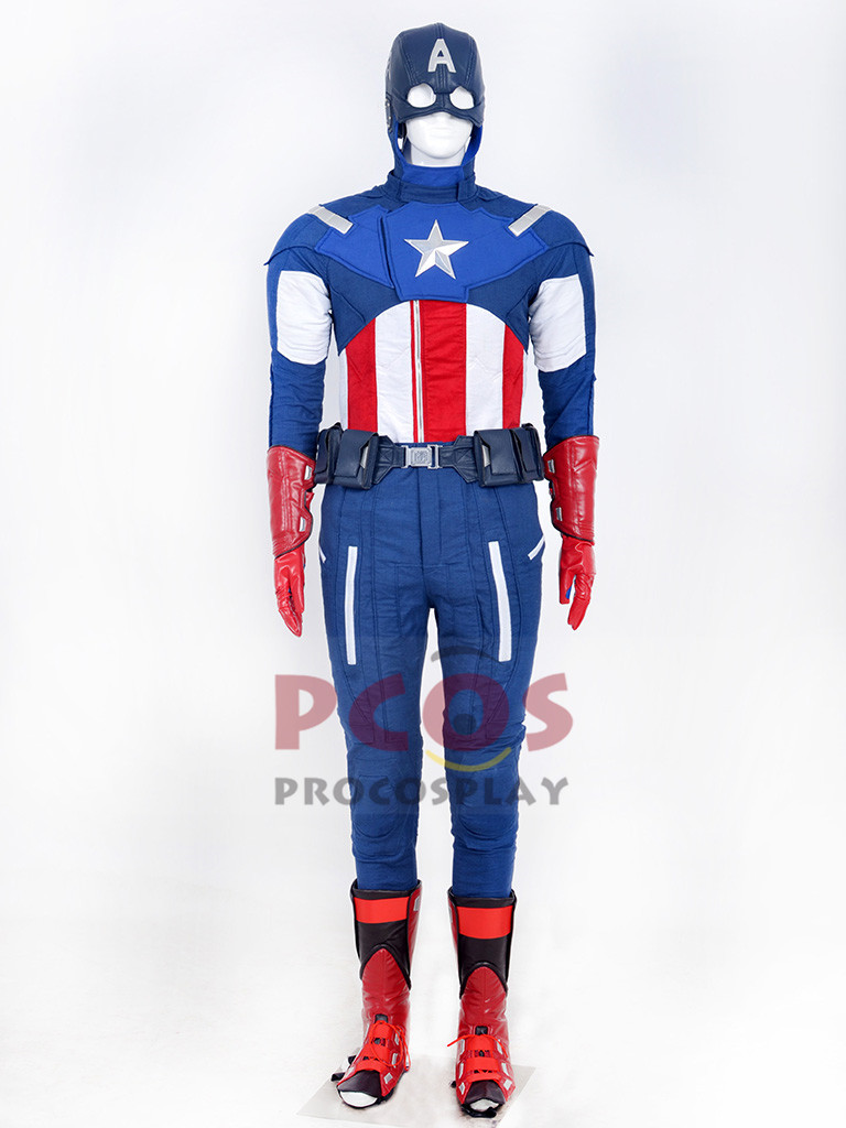 Deluxe The Avengers Captain America Steve Rogers Cosplay Costume mp002773
