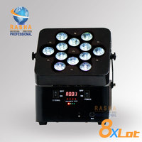 8X Factory 12leds*18W 6IN1 RGBAW UV Freedoom Hex Battery Powered Wireless LED Par Profile Par Can 15 20hours Backup Wedding