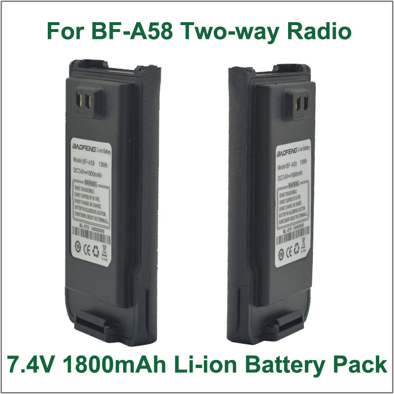 Battery Walkie Talkie Baofeng BF A58 DC7 2V 1800mAh Li ion Battery for BAOFENG BF A58