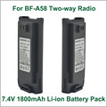 Battery Walkie Talkie Baofeng BF-A58 DC7.2V 1800mAh Li-ion Battery for BAOFENG BF-A58 IP57 Waterproof Portable Two-way Radio