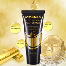 Woman's Fashion Facial Face Mask 24K Gold Collagen Peel Off