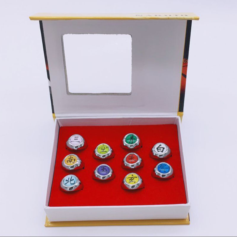Itachi10pcs/Set NARUTO Akatsuki Christmas-Gifts COSPLAY Japanese Anime for Member-Ring