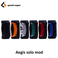 New arrival GeekVape Aegis Solo mod waterproof E Cigarette fit Cerberus Subohm Tank Tengu RDA By single 18650 VS aegis mini Mod