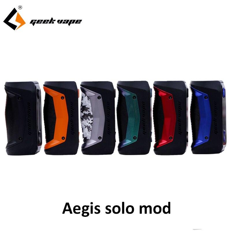 Nouveauté GeekVape Aegis Solo mod étanche E Cigarette fit cerbère Subohm réservoir Tengu RDA par unique 18650 VS aegis mini Mod